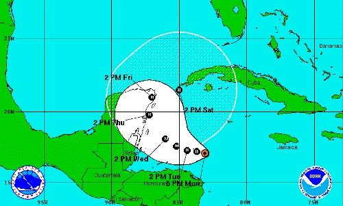 Huracán Rina amenaza itinerarios de crucero por el Caribe occidental