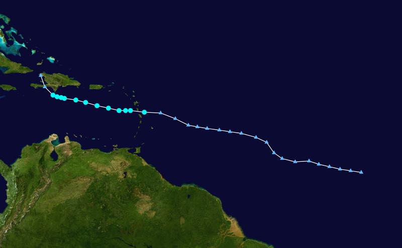 Paso de la tormenta Emily en el Caribe